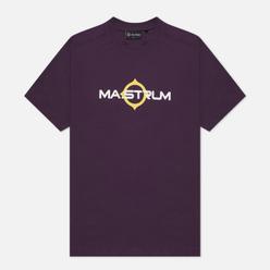 Мужская футболка MA.Strum Logo Print Aubergine