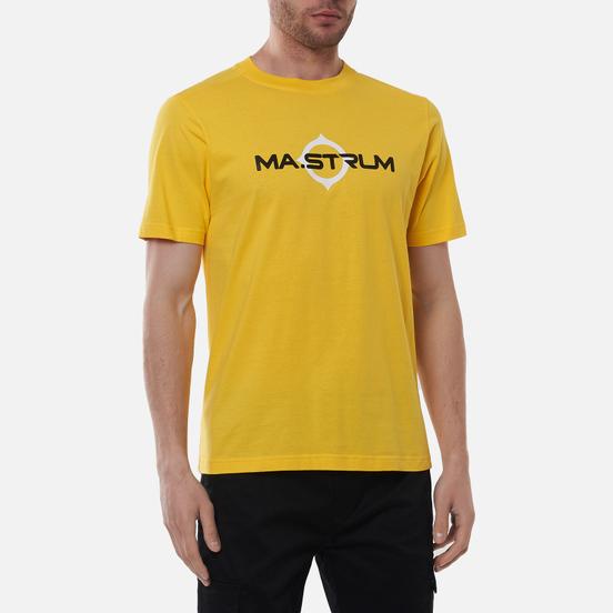 Мужская футболка MA.Strum Logo Print Citrus Yellow