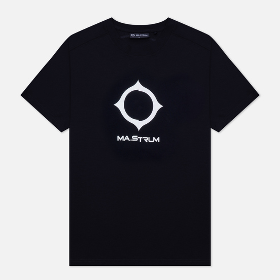 Мужская футболка MA.Strum Distort Logo Jet Black