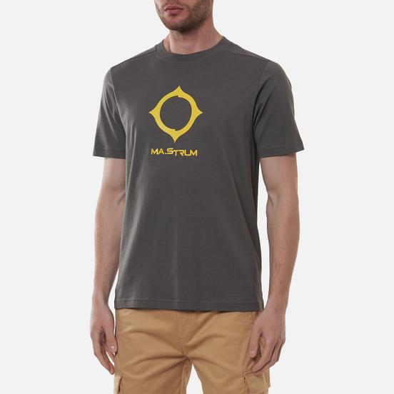 Мужская футболка MA.Strum Distort Logo Dark Slate