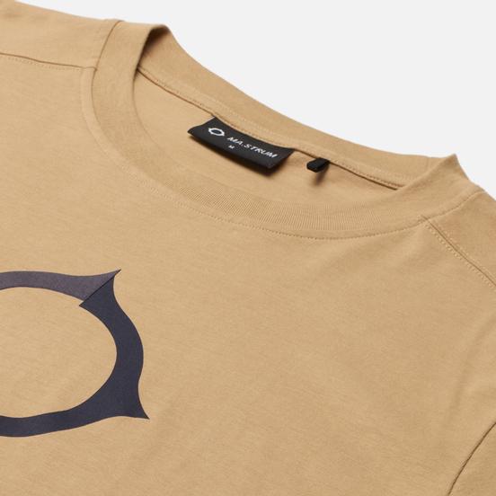Мужская футболка MA.Strum Distort Logo Sand