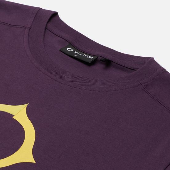 Мужская футболка MA.Strum Distort Logo Aubergine