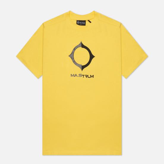 Мужская футболка MA.Strum Distort Logo Citrus Yellow