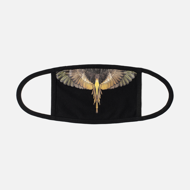 Маска Marcelo Burlon Yellow Wings Black/Multicolor