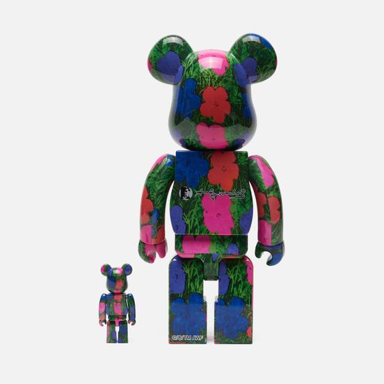 Игрушка Medicom Toy Bearbrick Andy Warhol Flrs 100% & 400%