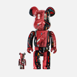Игрушка Medicom Toy Andy Warhol x Jean-Michel Basquiat 1 100% & 400%