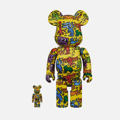 Игрушка Medicom Toy Bearbrick Keith Haring Ver. 5 100% & 400%
