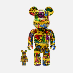 Игрушка Medicom Toy Bearbrick Keith Haring Ver. 5 100% & 400%