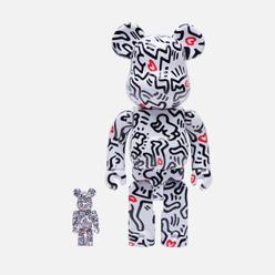 Игрушка Medicom Toy Bearbrick Keith Haring Ver. 8 100% & 400%