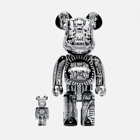 Игрушка Medicom Toy H.R. Giger Black Chrome 100% & 400%