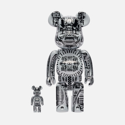 Игрушка Medicom Toy H.R. Giger White Chrome 100% & 400%