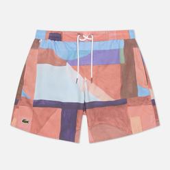 Мужские шорты Lacoste Lace-Up Waist Print Swim Groseiller/Multi-Color