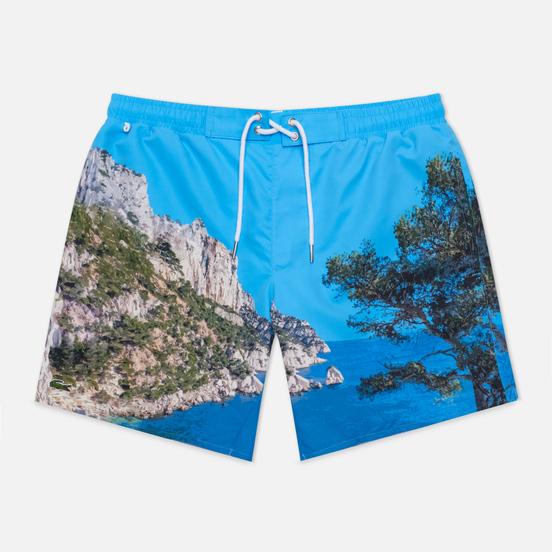 Мужские шорты Lacoste Lace-Up Waist Print Swim Ibiza/White