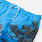 Мужские шорты Lacoste Lace-Up Waist Print Swim Ibiza/White фото - 1