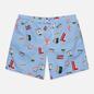 Мужские шорты Lacoste Lace-Up Waist Print Swim Nattier Blue/White фото - 0