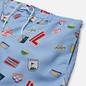 Мужские шорты Lacoste Lace-Up Waist Print Swim Nattier Blue/White фото - 1