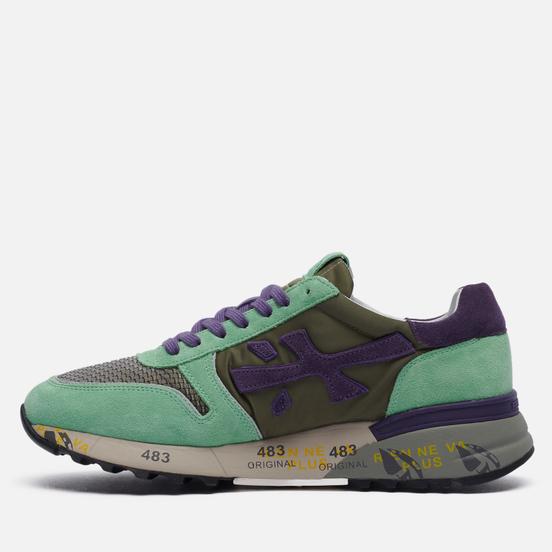 Мужские кроссовки Premiata Mick 5340 Olive Green/Mint/Purple