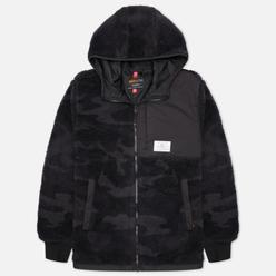 Мужская куртка Alpha Industries Sherpa Utility Hooded Black Woodland Camo