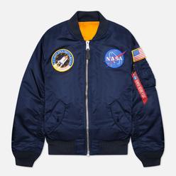 Мужская куртка бомбер Alpha Industries MA-1 NASA Replica Blue