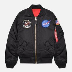 Мужская куртка бомбер Alpha Industries MA-1 Apollo NASA Black