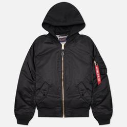 Мужская куртка бомбер Alpha Industries MA-1 Natus Hooded Black/New Silver Lining