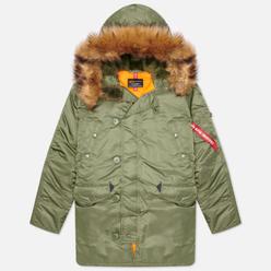 Мужская куртка парка Alpha Industries N-3B Slim Fit Sage