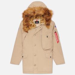 Мужская куртка парка Alpha Industries N-3B Alpine Vintage Khaki