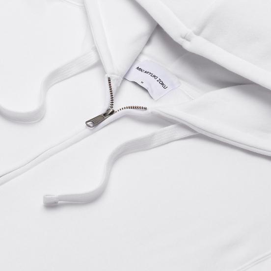 Мужская толстовка MKI Miyuki-Zoku Relaxed Basic Zip Hoody White