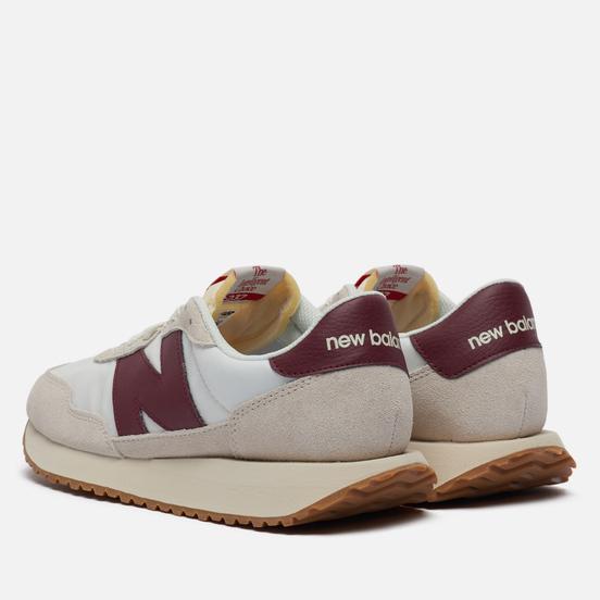 Мужские кроссовки New Balance 237 70s Vintage Core White/Burgundy