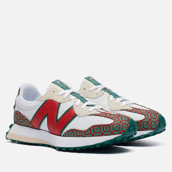 Мужские кроссовки New Balance x Casablanca 327 Munsell White/Dark Red/Holly Green