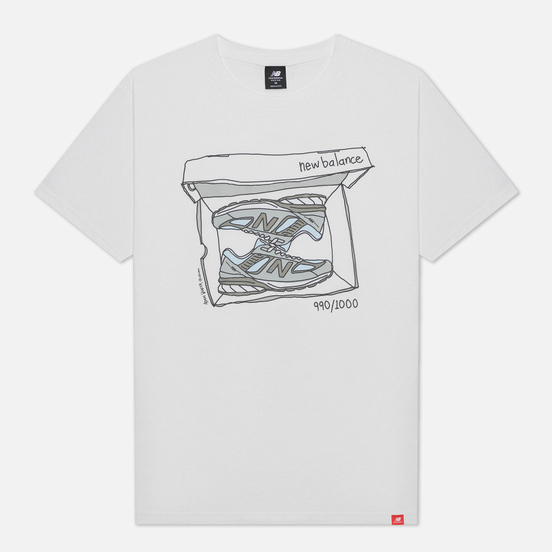 Мужская футболка New Balance Essentials Shoebox White