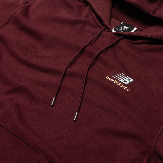 Мужская толстовка New Balance Essentials Embroidered Hoodie Bordeaux
