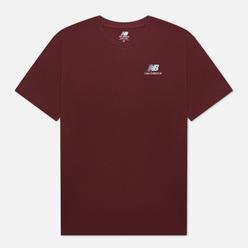 Мужская футболка New Balance Essentials Embroidered Burgundy