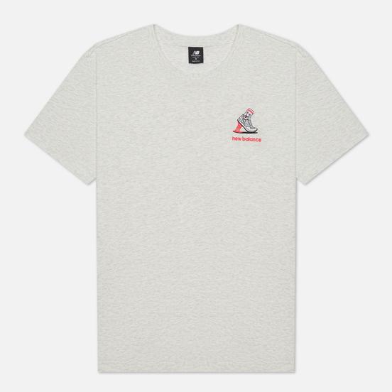 Мужская футболка New Balance Athletics Minimize Sea Salt Heather