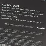 Чехол Mujjo Leather Wallet IPhone 6/6s Black фото- 8
