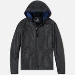 Мужская демисезонная куртка C.P. Company Giacca Sfoderata Lino Black фото- 0