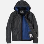 Мужская демисезонная куртка C.P. Company Giacca Sfoderata Lino Black фото- 1