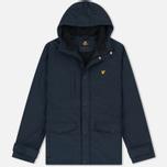 Мужская демисезонная куртка Lyle & Scott Micro Fleece Navy фото- 0