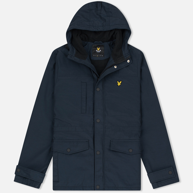 Мужская демисезонная куртка Lyle & Scott Micro Fleece Navy