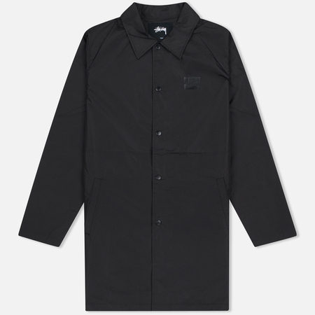 Stussy Long Coach Men's Jacket Black