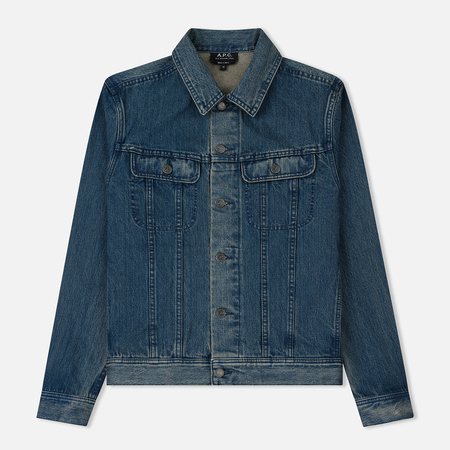 Мужская джинсовая куртка A.P.C. Leonard Indigo Washed