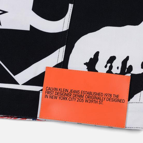 Мужская джинсовая куртка Calvin Klein Jeans Est. 1978 Denim Trucker Modernist Black