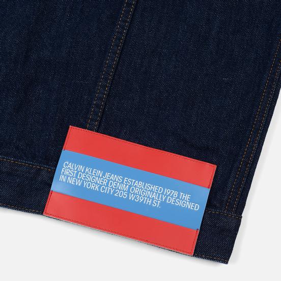 Мужская джинсовая куртка Calvin Klein Jeans Est. 1978 Denim Trucker Panel Rinse Indigo
