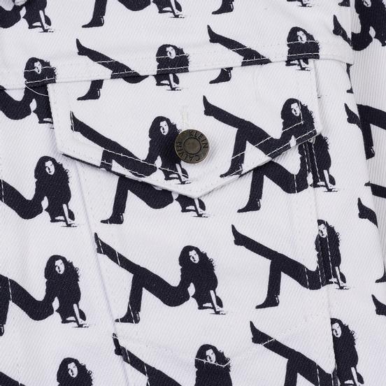 Мужская джинсовая куртка Calvin Klein Jeans Est. 1978 Icon Trucker All Over Print Brooke Black