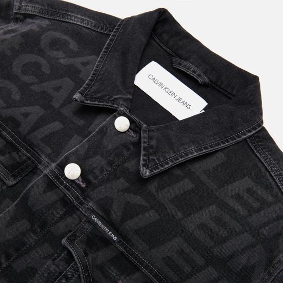 Мужская джинсовая куртка Calvin Klein Jeans Foundation Slim Gray All Over Print