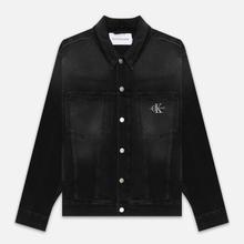 Мужская джинсовая куртка Calvin Klein Jeans Oversized Embroidered Monogram Black фото- 0