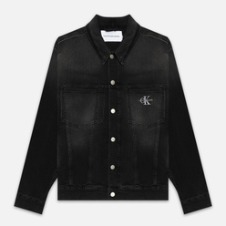 Мужская джинсовая куртка Calvin Klein Jeans Oversized Embroidered Monogram Black