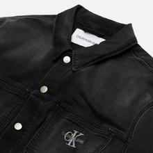 Мужская джинсовая куртка Calvin Klein Jeans Oversized Embroidered Monogram Black фото- 1