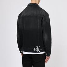 Мужская джинсовая куртка Calvin Klein Jeans Oversized Embroidered Monogram Black фото- 3