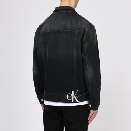 Мужская джинсовая куртка Calvin Klein Jeans Oversized Embroidered Monogram Black